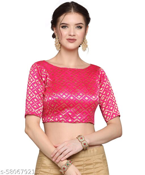 Ready-made Jacquard Printed Stiched Blouse