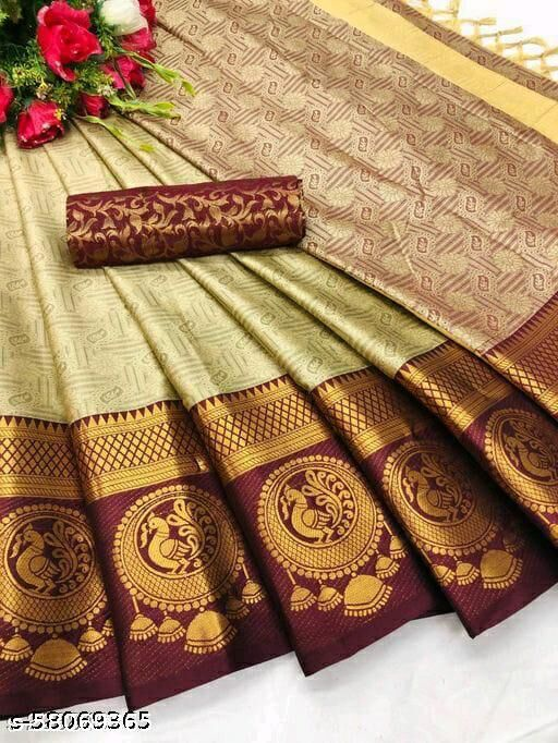 NEW LAUNCHED DESIGN IN TRENDING COTTON SILK SAREE (ORIGINAL PRODUCT)