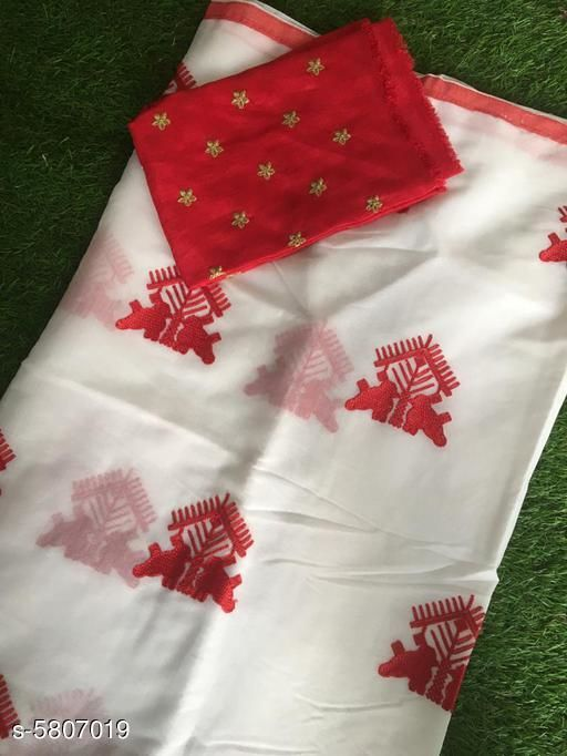 Trendy Women's Chanderi Cotton  Saree