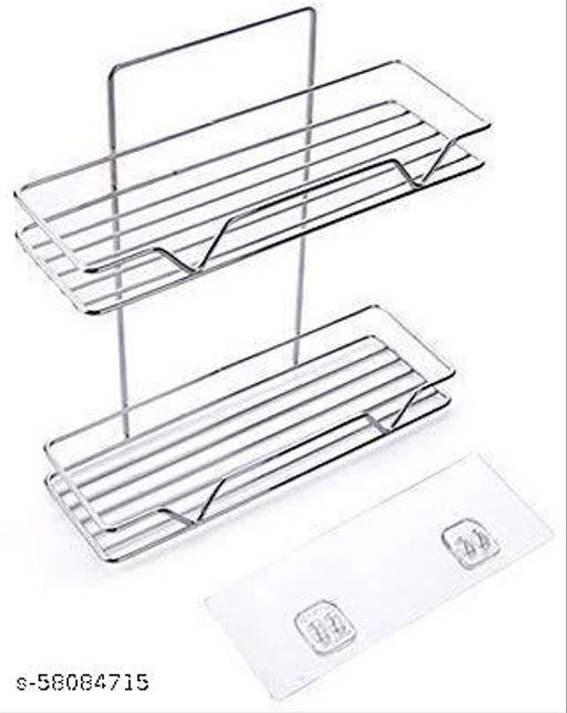 Double Layer Metal Bathroom Shelf