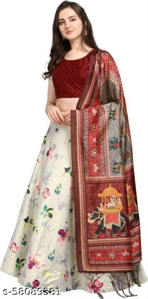 Letest Designer Printed Lehenga Choli with dupatta for women
