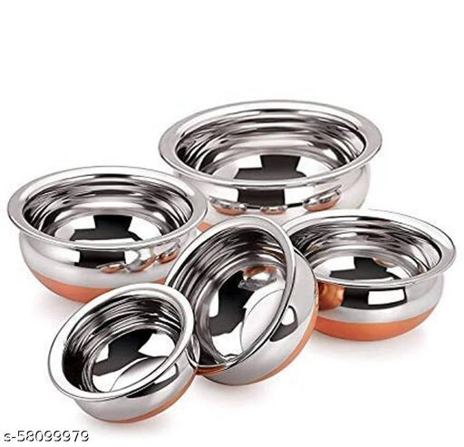Stainless Steel Handi set of 5 pieces