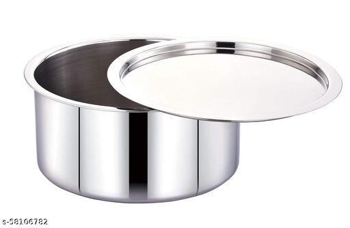 Stainless Steel Tope(Patila) with lid, Induction Friendly 2.5 Liter