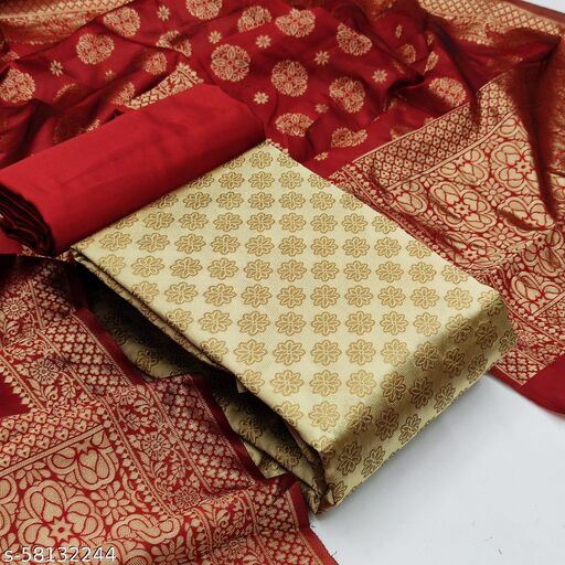 BANARASI JEQUARD WOVEN SUIT&DRESS MATERIAL