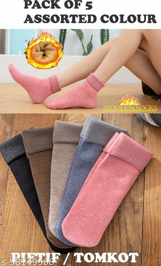 Piftif Winter Warmer Women Thicken Thermal Seamless Boots GIrl Sleeping Snow Socks