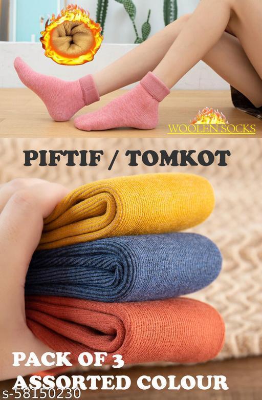 Tomkot woolen Fashion Winter Warm Women's Socks Thick Velvet Floor Socks Warm In The Tube Snow Socks