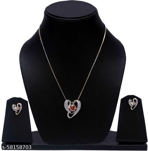 Fancy Dealz  Alloy Jewel Set  (Gold, Silver, Brown)