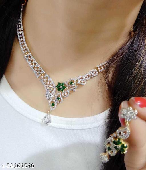Fancy Dealz  Alloy Jewellery Set  (Green)