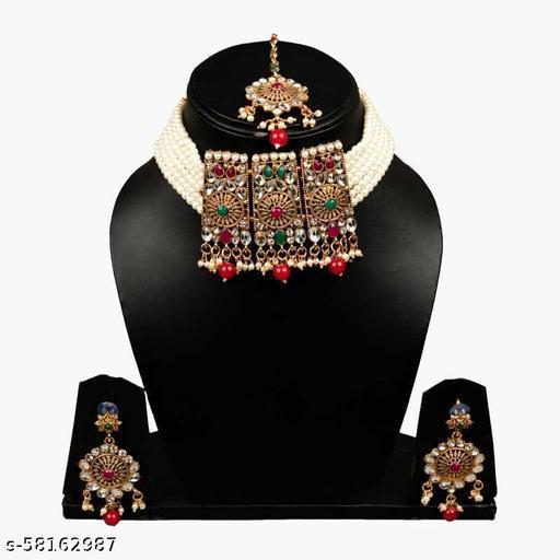Fancy Dealz  Alloy Gold-plated Jewellery Set  (Multicolor)