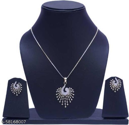 Fancy Dealz  Alloy Jewel Set  (Silver)