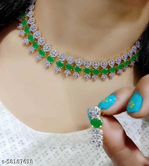 Fancy Dealz  Alloy Jewel Set  (Green)