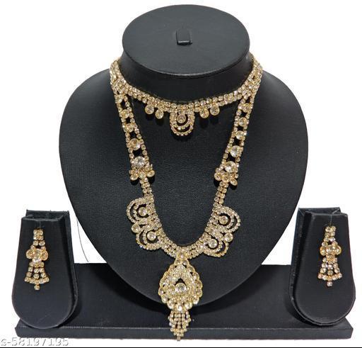 cusual Wear & Party Wear & Wedding Latest Designer Fancy Necklace Set & Earring For Women & Girls