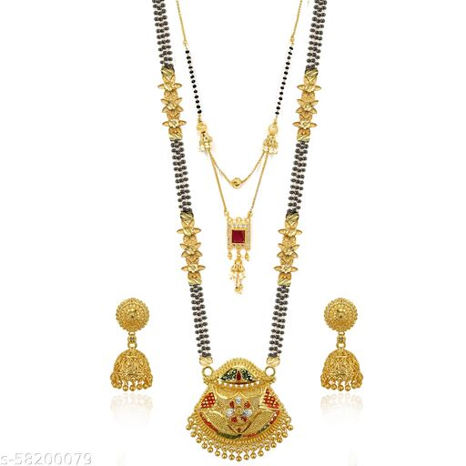 Pearl Mangalsutra with Earring