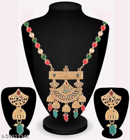 Fancy Dealz  Alloy Jewel Set  (Green, Gold, Red)
