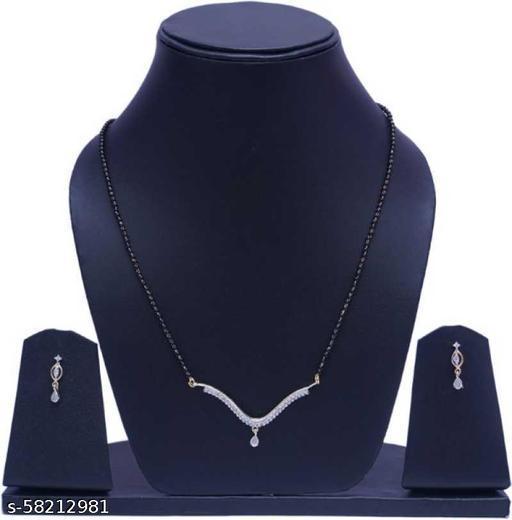 Fancy Dealz  Alloy Jewel Set  (Gold, Black)