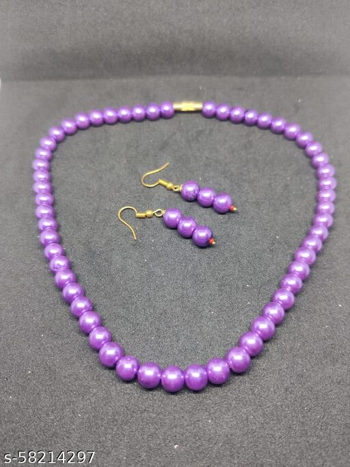 Vignu jewellery pearls jewellery set for women and girls
