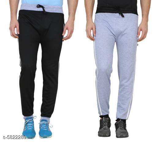 Solid Men Trackpants Pack Of 2