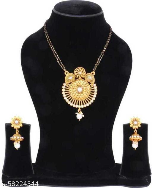Fancy Dealz Brass Brass Jewel Set  (Gold, White, Black)