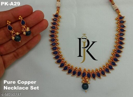 Copper jewellery Set
