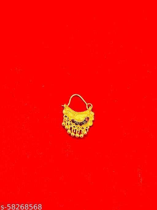 Gold Plated Maharashtrian Style Nathiya/Nath