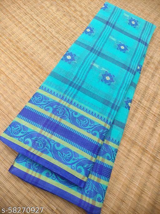 Pure Cotton Checkered Tant Saree