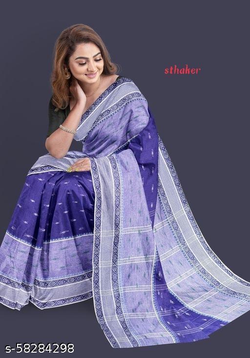Bengali cotton hard taant saree
