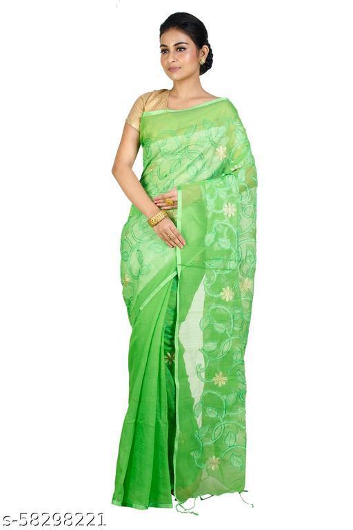 Upama Febric Self Design Pure Handloom Saree