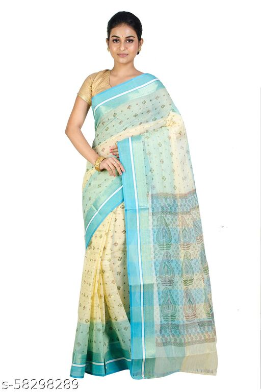 Upama Febric Self Design Pure Cotton Saree