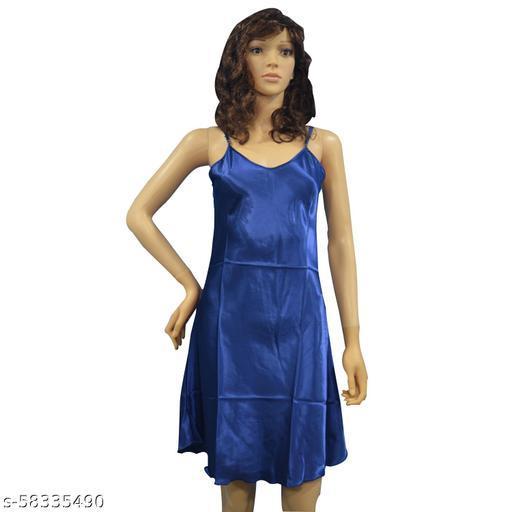 Pearlfly women silk night/ women silk nightdress