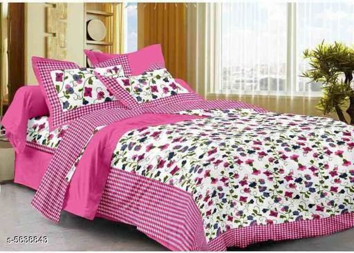 Elegant Cotton 100 X 90 Double Bedsheet