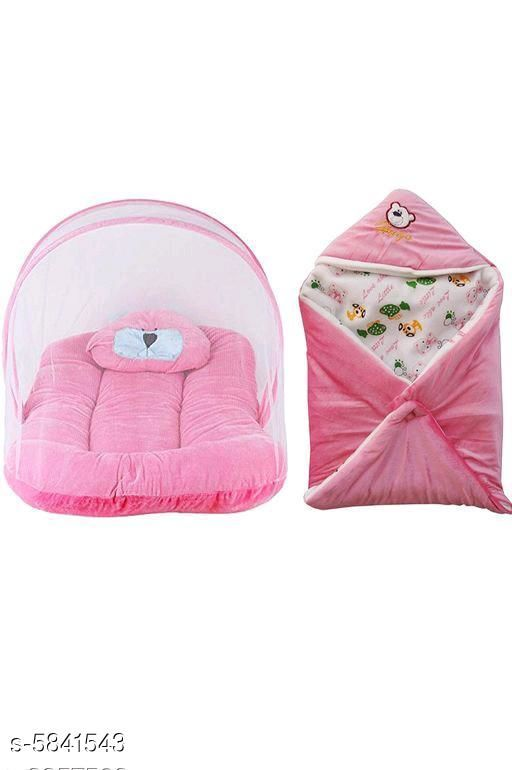 Baby & Kids Bedding Comfortable Soft Velvet Baby Bedding Set Combo  *Fabric* Velvet  *Size* Bedding Set  ( L X W X H)  *Age Group * 0 Months - 6 Months  *Description* It Has 1 Piece Of Baby Bedding Set With Mosquito Net & 1 Piece Of Baby Blanket  *Work* Printed  *Sizes Available* 0-3 Months, 0-6 Months *    Catalog Name: Comfortable Soft Velvet Baby Bedding Set Combo CatalogID_880902 C53-SC1447 Code: 095-5841543-