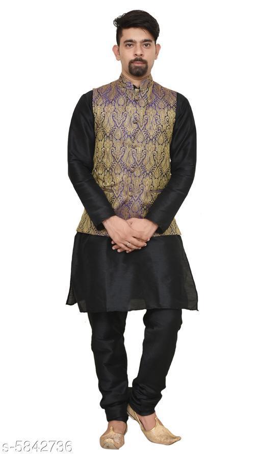 Trendy Banarsi Dupion Sherwanis