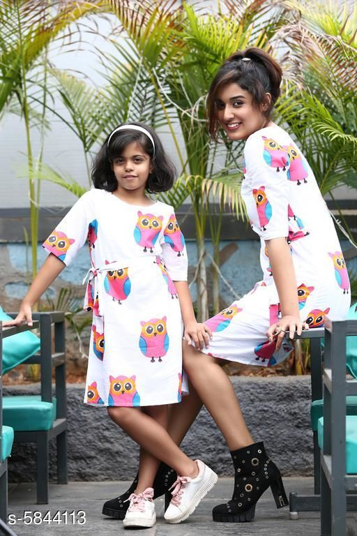 Frocks & Dresses Flawsome Elegant Cotton Mother & Daughter Midi Dresses  *Fabric* Cotton  *Sleeve Length* Three-Quarter Sleeves  *Pattern* Printed  *Multipack* Pack Of 2  *Sizes  *  For Daughter  *4-5 Years (Bust Size* 24 in)  *5-6 Years (Bust Size* 25 in)  *10-11 Years (Bust Size* 28 in)  *11-12 Years (Bust Size* 30 in)  *8-9 Years (Bust Size* 27 in)  *6-7 Years (Bust Size* 25 in)  *7-8 Years (Bust Size* 26 in)  *9-10 Years (Bust Size* 28 in)  *For Mother*   *L (Bust Size* 40 in, Length Size  *Sizes Available* KID - 4-5 Years/ Parent - XL, KID - 5-6 Years/ Parent - XL, KID - 6-7 Years/ Parent - XL, KID - 7-8 Years/ Parent - XL, KID - 8-9 Years/ Parent - XL, KID - 9-10 years/ Parent - XL, KID - 10-11 Years/ Parent - XL, KID - 11-12 years/ Parent - XL, KID - 4-5 Years/ Parent - XXL, KID - 5-6 Years/ Parent - XXL, KID - 6-7 Years/ Parent - XXL, KID - 7-8 Years/ Parent - XXL, KID - 4-5 Years/ Parent - XS, KID - 8-9 Years/ Parent - XXL, KID - 5-6 Years/ Parent - XS, KID - 9-10 years/ Parent - XXL, KID - 6-7 Years/ Parent - XS, KID - 10-11 Years/ Parent - XXL, KID - 7-8 Years/ Parent - XS, KID - 11-12 years/ Parent - XXL, KID - 8-9 Years/ Parent - XS, KID - 9-10 years/ Parent - XS, KID - 10-11 Years/ Parent - XS, KID - 11-12 years/ Parent - XS, KID - 4-5 Years/ Parent - S, KID - 5-6 Years/ Parent - S, KID - 6-7 Years/ Parent - S, KID - 7-8 Years/ Parent - S, KID - 8-9 Years/ Parent - S, KID - 9-10 years/ Parent - S, KID - 10-11 Years/ Parent - S, KID - 11-12 years/ Parent - S, KID - 4-5 Years/ Parent - M, KID - 5-6 Years/ Parent - M, KID - 6-7 Years/ Parent - M, KID - 7-8 Years/ Parent - M, KID - 8-9 Years/ Parent - M, KID - 9-10 years/ Parent - M, KID - 10-11 Years/ Parent - M, KID - 11-12 years/ Parent - M, KID - 4-5 Years/ Parent - L, KID - 5-6 Years/ Parent - L, KID - 6-7 Years/ Parent - L, KID - 7-8 Years/ Parent - L, KID - 8-9 Years/ Parent - L, KID - 9-10 years/ Parent - L, KID - 10-11 Years/ Parent - L, KID - 11-12 years/ Parent - L *    Catalog Name: Flawsome Elegant Mother & Daughter Midi Dresses CatalogID_881289 C62-SC1141 Code: 5221-5844113-