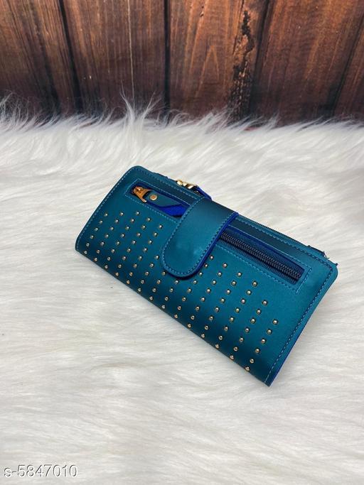 Attractive Women's Blue Wallet