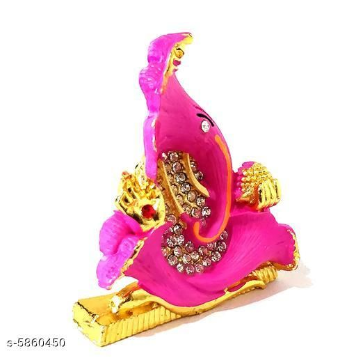 Religious Idols & Paintings Elite Traditional Ganesh Ji Idols  *Material* Metal  *Pack* Pack of 1  *Product Length* 6 cm  *Product Breadth* 2 cm  *Product Height* 7 cm  *Sizes Available* Free Size   Supplier Rating: ★3.9 (2427) SKU: pink Shipping charges: Rs1 (Non-refundable) Pkt. Weight Range: 113  Catalog Name: Elite Traditional Ganesh Ji Idols - ATC KURTIS Code: 863-5860450--854
