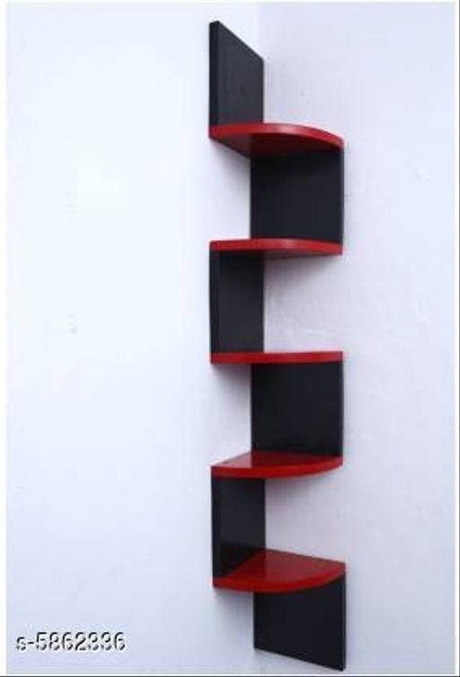 Wooden Beautiful Zig Zag Wall Shelf
