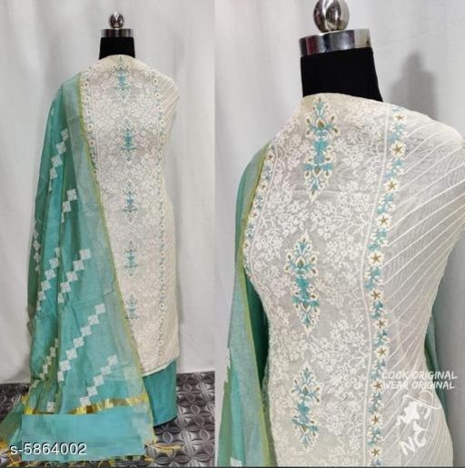 Trendy Chanderi Modal Silk Women's Suits & Dress Material