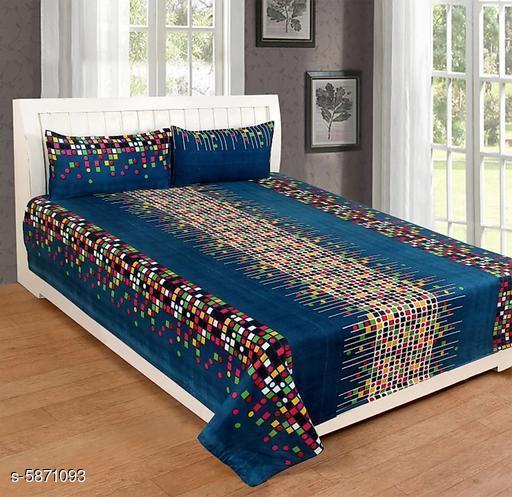Stylish PolyCotton 90 X 90 Double Bedsheet