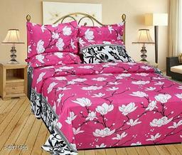 Trendy Polycotton 90  X 90 Double Bedsheet