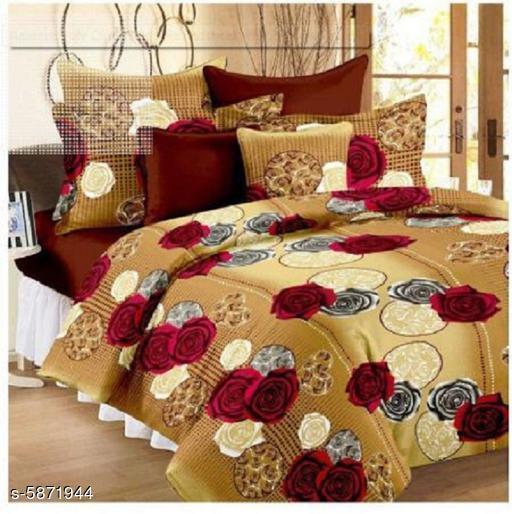 Trendy Polycotton 90 x 90 Double Queen Bedsheet
