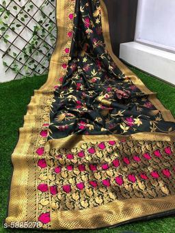 Trendy Banarasi Soft Slik Saree
