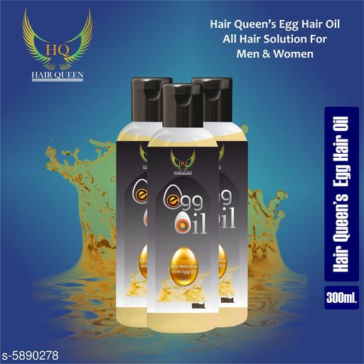 Herbal Products Hair Queen Egg Natural Hair Oil 100ml   *Product Name* Hair Queen Egg Natural Hair Oil 100ml  *Brand Name* Hair Queen  *Flavour* Egg  *Multipack* 3  *Capacity* 100 ml Each  *Sizes Available* Free Size *    Catalog Name:  Advanced Intensive Herbal Hair Oil CatalogID_889546 C50-SC1297 Code: 762-5890278-