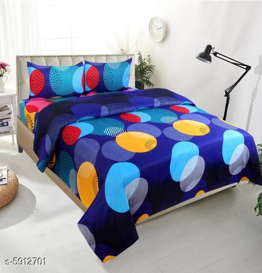 Trendy Polycotton 90 X 90 Double Bedsheets
