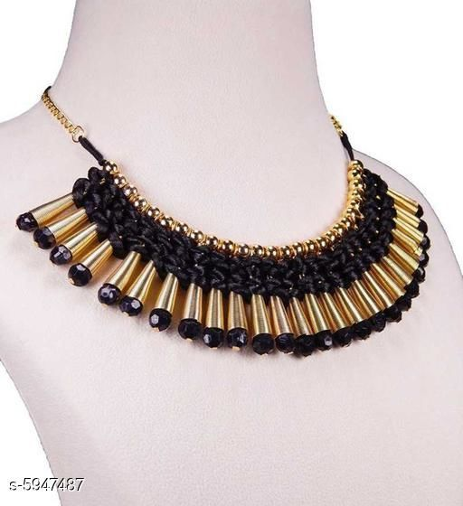 Twinkling Beaded Alloy Necklaces