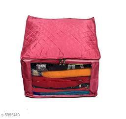 Large Satin High Quality Saree Cover - Pink