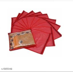 Non woven Single Garments Cover (Pack of 12) - Red