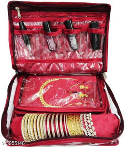 Travelling Jewellery Bag - Maroon
