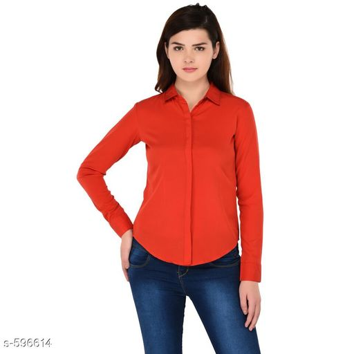 Shirts Trendy Polyester Casual Women's Shirt  *Fabric* Polyester  *Sleeves* Sleeves Are Included  *Size* S - 34 in, M - 36 in, L - 38 in, XL - 40 in Length - Up To 26 in  *Type* Stitched  *Description* It Has 1 Piece Of Women's Shirt  *Pattern* Solid  *Sizes Available* S, M, L, XL *   Catalog Rating: ★4 (372)  Catalog Name: Scarlette Typical Polyester Solid Shirt Vol 2 CatalogID_66534 C79-SC1022 Code: 472-596614-