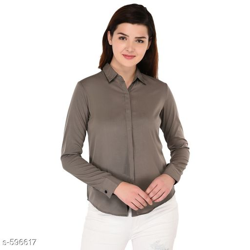 Shirts Trendy Polyester Casual Women's Shirt  *Fabric* Polyester  *Sleeves* Sleeves Are Included  *Size* S - 34 in, M - 36 in, L - 38 in, XL - 40 in Length - Up To 26 in  *Type* Stitched  *Description* It Has 1 Piece Of Women's Shirt  *Pattern* Solid  *Sizes Available* S, M, L, XL *    Catalog Name: Scarlette Typical Polyester Solid Shirt Vol 2 CatalogID_66534 C79-SC1022 Code: 472-596617-