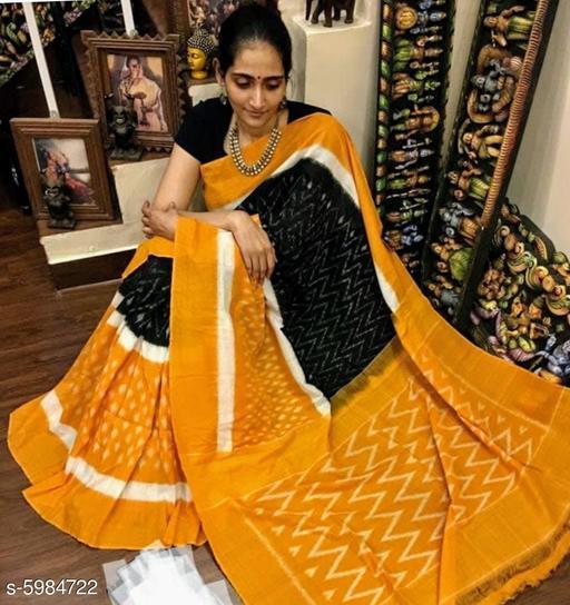 Trendy Khadi Slub Women's Saree